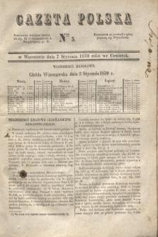 Gazeta Polska. 1830, Nro 5 (7 stycznia)