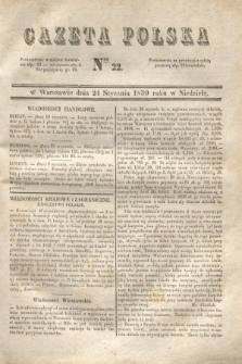 Gazeta Polska. 1830, Nro 22 (24 stycznia)