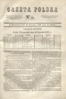 Gazeta Polska. 1830, Nro 25 (27 stycznia)
