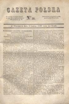 Gazeta Polska. 1830, Nro 31 (3 lutego)