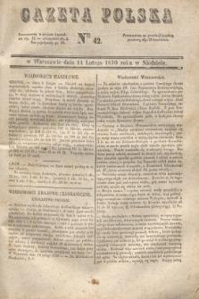 Gazeta Polska. 1830, Nro 42 (14 lutego)