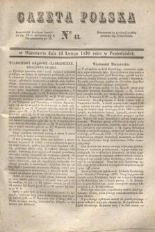 Gazeta Polska. 1830, Nro 43 (15 lutego)