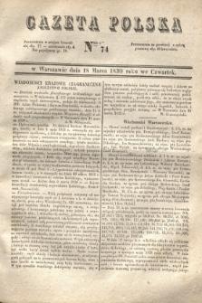 Gazeta Polska. 1830, Nro 74 (18 marca)