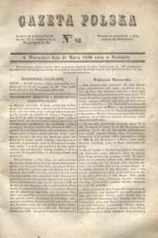 Gazeta Polska. 1830, Nro 83 (28 marca)