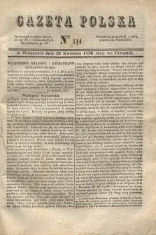 Gazeta Polska. 1830, Nro 114 (29 kwietnia) + dod.