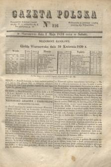 Gazeta Polska. 1830, Nro 116 (1 maja) + dod.