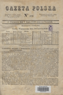 Gazeta Polska. 1830, Nro 173 (1 lipca)