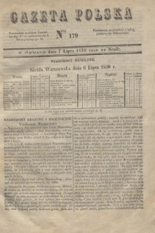 Gazeta Polska. 1830, Nro 179 (7 lipca)