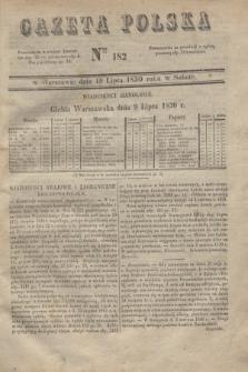 Gazeta Polska. 1830, Nro 182 (10 lipca)