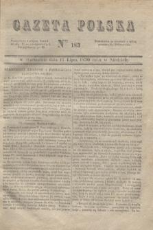 Gazeta Polska. 1830, Nro 183 (11 lipca)