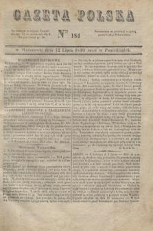 Gazeta Polska. 1830, Nro 184 (12 lipca)