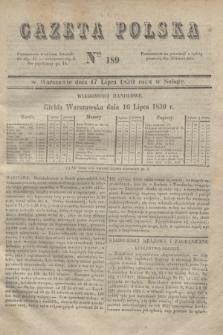 Gazeta Polska. 1830, Nro 189 (17 lipca)
