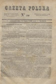 Gazeta Polska. 1830, Nro 190 (18 lipca)