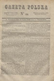 Gazeta Polska. 1830, Nro 191 (19 lipca)
