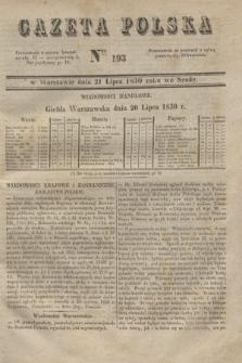 Gazeta Polska. 1830, Nro 193 (21 lipca)