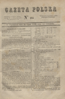 Gazeta Polska. 1830, Nro 194 (22 lipca)