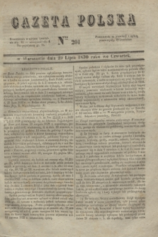 Gazeta Polska. 1830, Nro 201 (29 lipca)