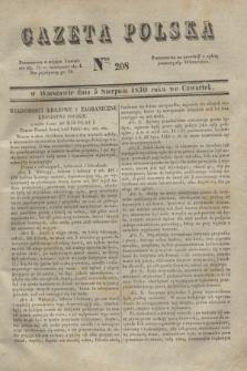 Gazeta Polska. 1830, Nro 208 (5 sierpnia)