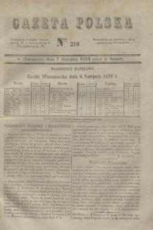 Gazeta Polska. 1830, Nro 210 (7 sierpnia)