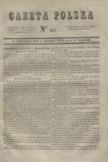 Gazeta Polska. 1830, Nro 211 (8 sierpnia)