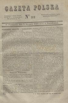 Gazeta Polska. 1830, Nro 212 (9 sierpnia)