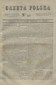 Gazeta Polska. 1830, Nro 213 (10 sierpnia)