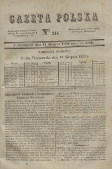 Gazeta Polska. 1830, Nro 214 (11 sierpnia)