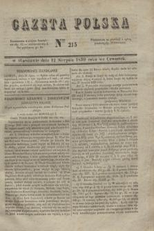 Gazeta Polska. 1830, Nro 215 (12 sierpnia)