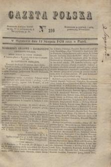 Gazeta Polska. 1830, Nro 216 (13 sierpnia)