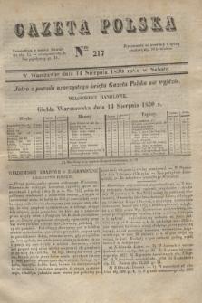 Gazeta Polska. 1830, Nro 217 (14 sierpnia)