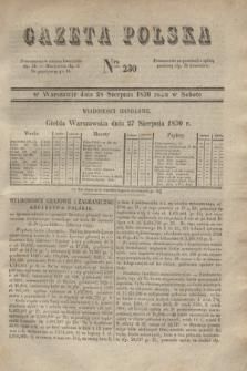 Gazeta Polska. 1830, Nro 230 (28 sierpnia)