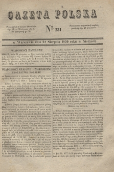 Gazeta Polska. 1830, Nro 231 (29 sierpnia)