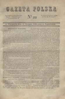 Gazeta Polska. 1830, Nro 232 (30 sierpnia)