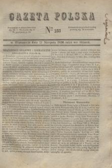 Gazeta Polska. 1830, Nro 233 (31 sierpnia) + dod.