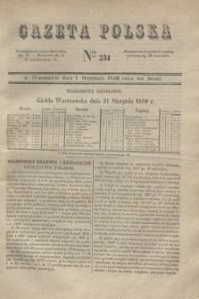 Gazeta Polska. 1830, Nro 234 (1 września)
