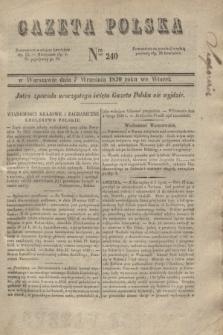 Gazeta Polska. 1830, Nro 240 (7 września)