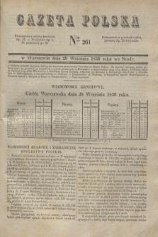 Gazeta Polska. 1830, Nro 261 (29 września)
