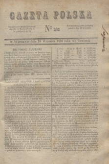 Gazeta Polska. 1830, Nro 262 (30 września) + dod.