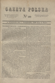 Gazeta Polska. 1830, Nro 263 (1 października)
