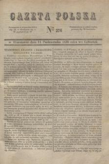 Gazeta Polska. 1830, Nro 276 (14 października)