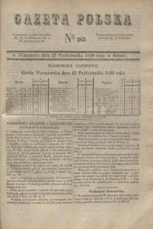 Gazeta Polska. 1830, Nro 285 (23 października)