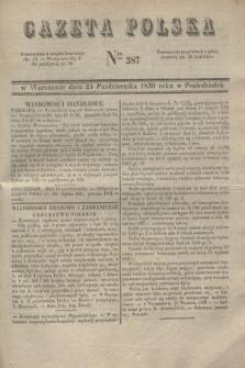 Gazeta Polska. 1830, Nro 287 (25 października)