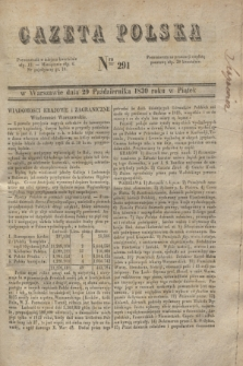 Gazeta Polska. 1830, Nro 291 (29 października)
