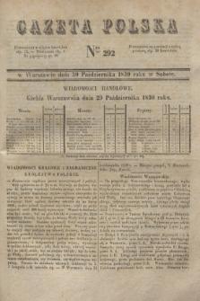 Gazeta Polska. 1830, Nro 292 (30 października)