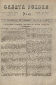 Gazeta Polska. 1830, Nro 293 (31 października) + dod.