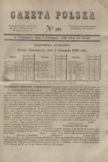 Gazeta Polska. 1830, Nro 295 (3 listopada)
