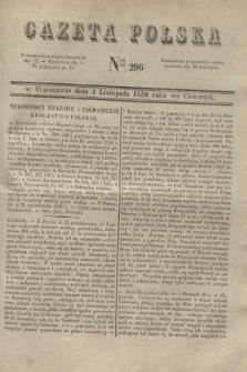 Gazeta Polska. 1830, Nro 296 (4 listopada)
