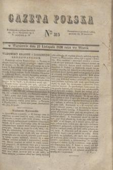 Gazeta Polska. 1830, Nro 315 (23 listopada)