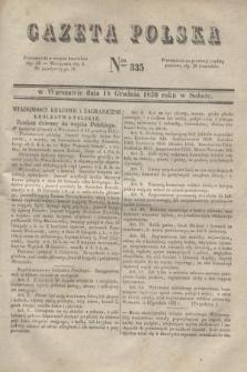 Gazeta Polska. 1830, Nro 335 (18 grudnia)