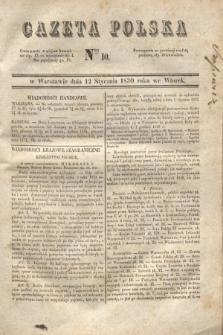 Gazeta Polska. 1830, Nro 10 (12 stycznia)